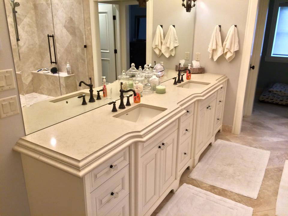 custom bathroom countertops